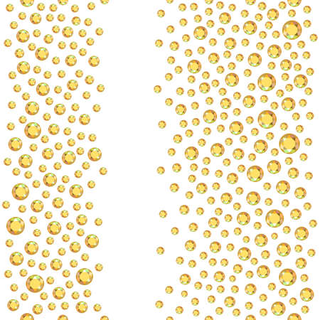 rhinestones: Seamless scattered rhinestones isolated on white background, vector illustration