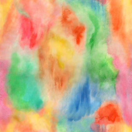 bile: Abstract boho seamless fancy summertime watercolor background Stock Photo