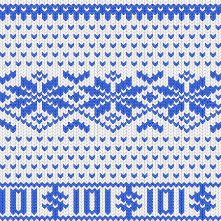 valuta: Knitted dollar blue white scheme vector