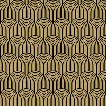 Golden black seamless background, vector illustration