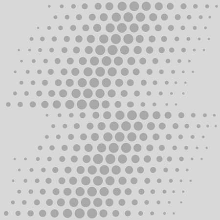 argent: Scattered  aligned grey rounds isolated on light background, seamless texture. Vector illustration