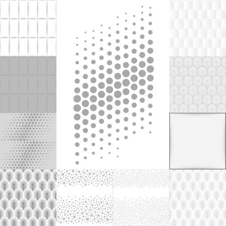 hush hush: Grey white background set, vector illustration