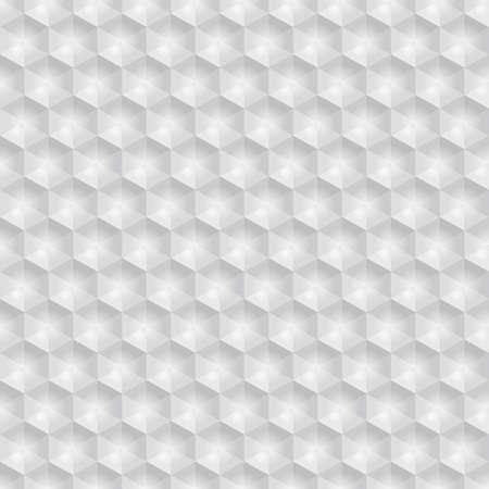 leatherette: Grey white hexagon seamless background, vector illustration