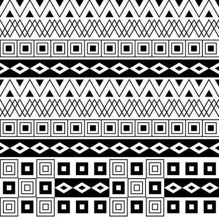 Geometrical seamless pattern background, vector illustration isolated on white