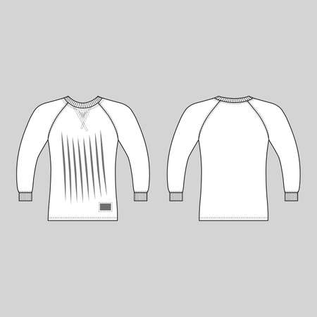 T shirt man template (front, back views), vector illustration isolated on white background 일러스트