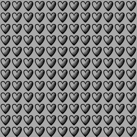 Geometrical seamless counting heart embroidery or knitting scheme motif pattern background, isolated vector illustration. For apparel textile: sweater, sock, scarf; interior: napkin, cushion