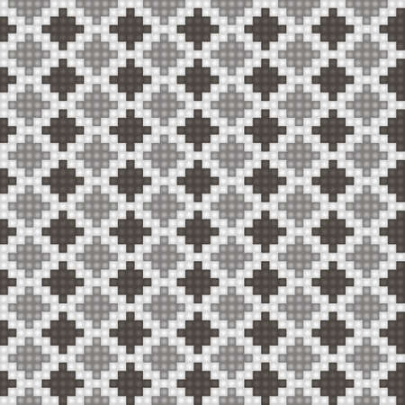 Geometrical seamless counting jacquard embroidery or knitting scheme motif pattern background, isolated vector illustration. For apparel textile like that sweater, sock, napkin, cushion Ilustração