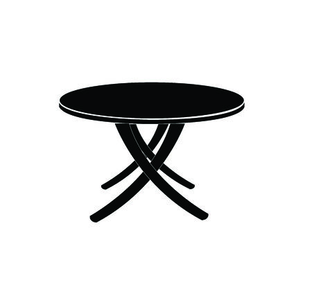 round table: round table isolated illustration on white background