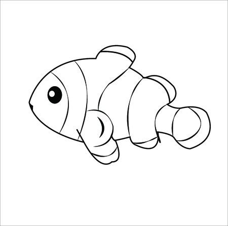 anemonefish: Layered of isolated Clownfish with white background.