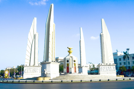democracy Monument: Democracy Monument on Ratchadamnoen Avenue, Bangkok, Thailand