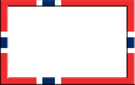 norway flag: Frame striped Norway flag