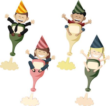 Party Rocketeers Ilustração