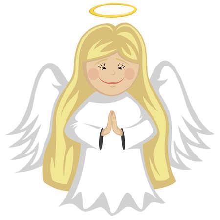 gloria: Little Cute Angels - blonde angel praying