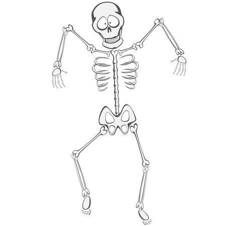 buddy: Skeleton Buddy - The skeleton is walking funny Towards the zombie you like Illustration