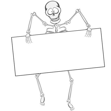 buddy: Skeleton Buddy - The skeleton is walking funny Towards the zombie you like holding a whiteboard or you can place your text ad here! Illustration
