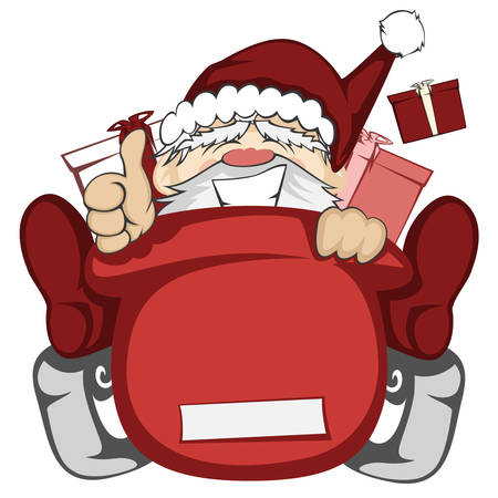 out of control: Santa Claus in action - Santa sleigh is out of control