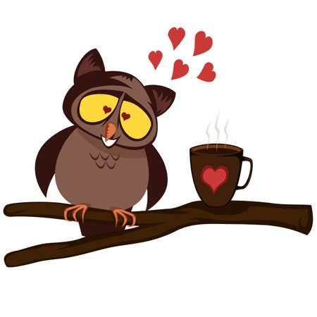Owl morning love (with coffee)