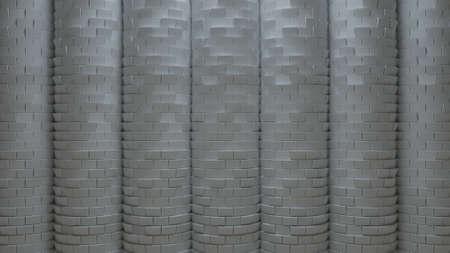 displace: 3d generated abstract background, rendered surface with brick displacement facture