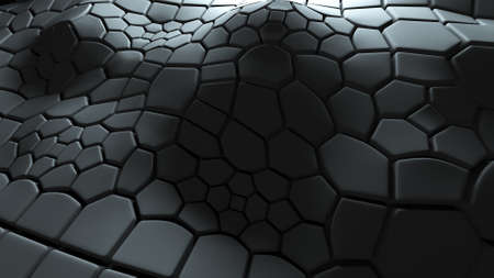 extruded: abstract 3d background with extruded polygons