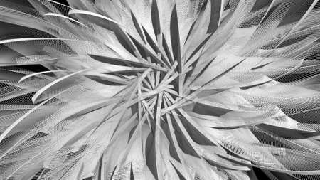 deformation: abstract background with rotated plane elements, 3d rendering deformation, flower look Stock Photo