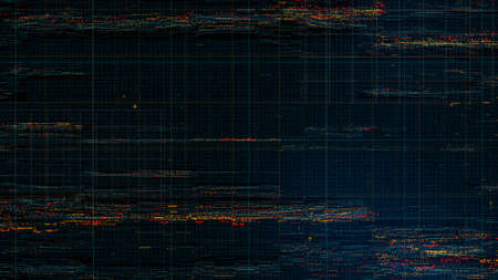 displaced: digital technology background, a lot of small dots form distorted and displaced surface