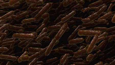 virus bacteria: abstract 3d rendering background, bacteria or virus concept