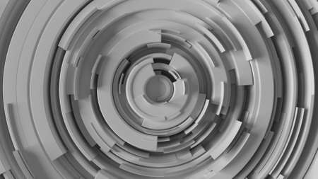 arcs: abstract background made of arcs randomly rotated with different height, 3d rendering