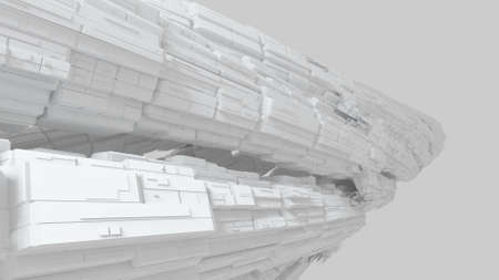 abound: Abstract greeble surface made of cubes
