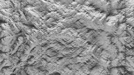 displacement: 3d render of abstract planet surface with high detailed relief made with displacement noise