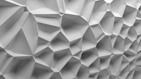 displacement: 3d background randomly displacement surface, voronoi pattern