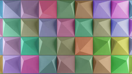 clones: 3d rendering geometry background with repeating shapes Stock Photo