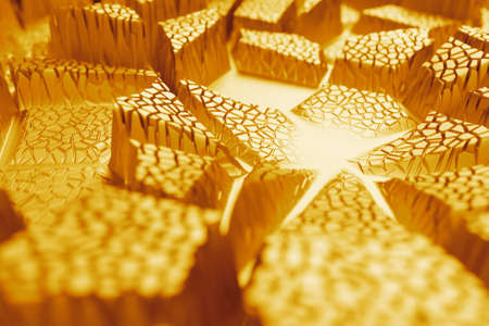 reflective: 3d rendering of abstract reflective displacement surface