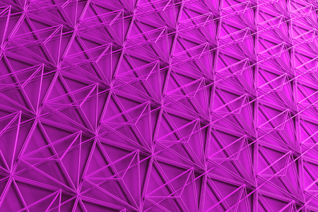 3d rendering abstract background with repeat of wireframe structures.Clones of primitive geometric shapes.