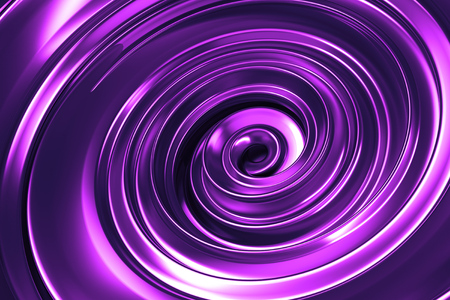 metalic: Abstract spiral background. Metalic  reflective vortex. Twisted 3d rendering background. Stock Photo