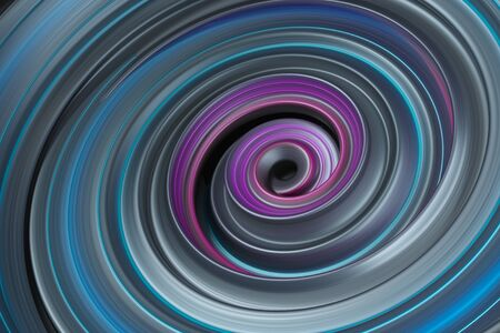 specular: Abstract spiral background. Metalic  reflective vortex. Twisted 3d rendering background. Stock Photo