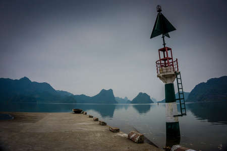 a small view of a tiny fisherman harbour in hallong bay Reklamní fotografie