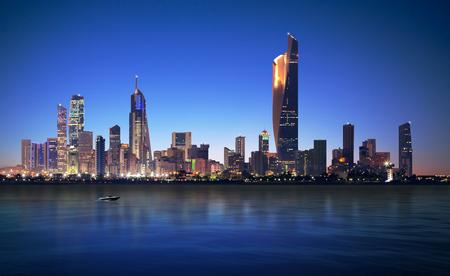 Kuwait City Night View Reklamní fotografie