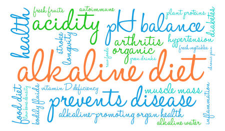 deficiency: Alkaline Diet word cloud on a white background. Illustration