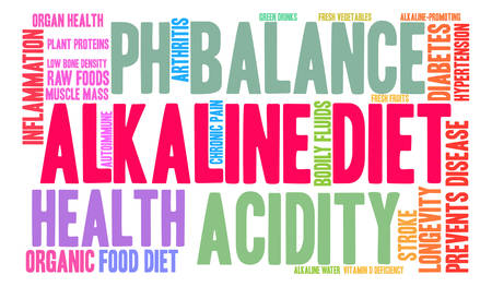 alkaline: Alkaline Diet word cloud on a white background. Illustration