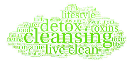 Cleansing word cloud on a white background. Stok Fotoğraf - 67347413