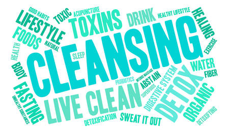 Cleansing word cloud on a white background. Stok Fotoğraf - 67347568