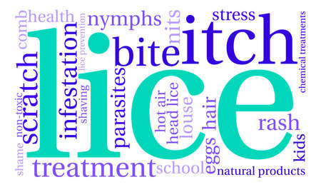 Lice word cloud on a white background. Banco de Imagens - 67347575