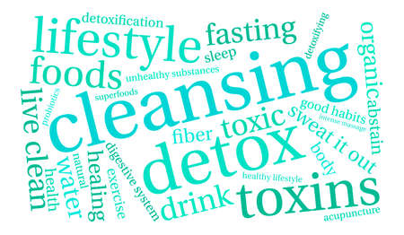 Cleansing word cloud on a white background. Stok Fotoğraf - 67347637