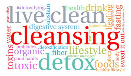 Cleansing word cloud on a white background. Stok Fotoğraf - 67347801