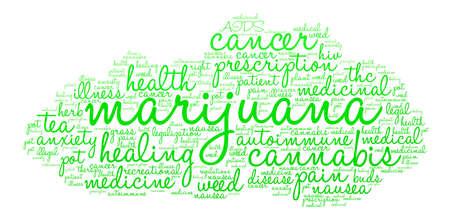 legislators: Marijuana word cloud on a white background. Illustration