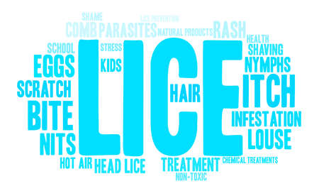 Lice word cloud on a white background. Banco de Imagens - 67347920