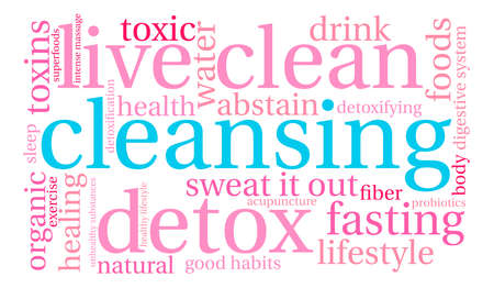 Cleansing word cloud on a white background. Stok Fotoğraf - 67347955