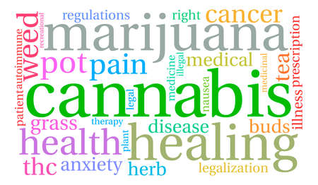 oppose: Cannabis word cloud on a white background.