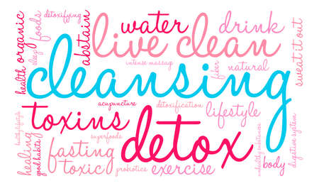 Cleansing word cloud on a white background. Stok Fotoğraf - 67348049