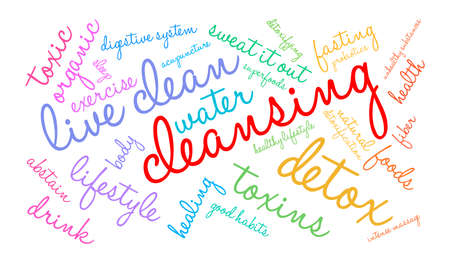 Cleansing word cloud on a white background. Stok Fotoğraf - 67348127